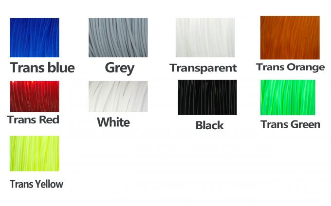 Transparent Rubber Flexible 3D Printer Filament Consumables 1.75mm  / 3.0 mm