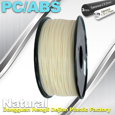 ประเทศจีน High Toughness 1.75mm 3D Printer Filament PC / ABS Filament 1.3Kg / Roll ผู้ผลิต