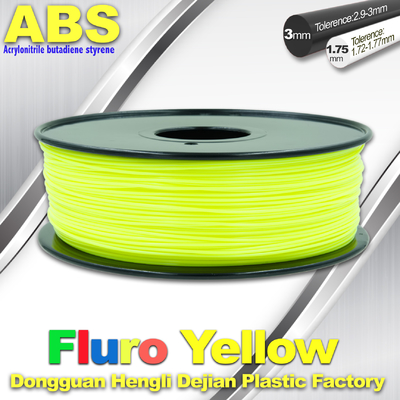 ประเทศจีน Fluorescent ABS 3d Printer Filament ABS 3D Printing Material For Desktop Printer ผู้ผลิต