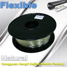 ประเทศจีน Transparent Rubber Flexible 3D Printer Filament Consumables 1.75mm  / 3.0 mm ผู้ผลิต