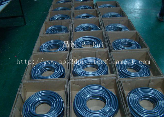 ประเทศจีน Fluorescence PVC Plastic Flexible Hose Blue / Green For Automobiles , Computers , Lighting ผู้ผลิต