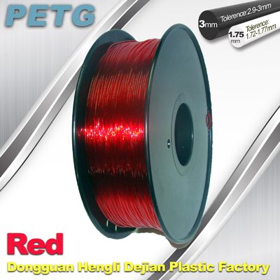 Red 1.75mm / 3.0mm  PETG Fliament  3D Printing Filament Materials