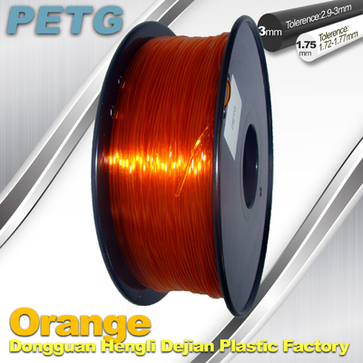 High Strength PETG Filament  , Transparent 3D Printing Filament  Resistance Acid